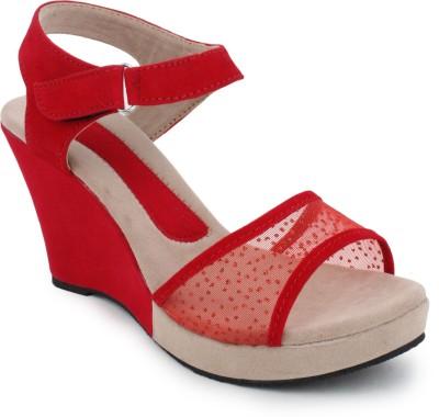 Hansx Women Red Wedges
