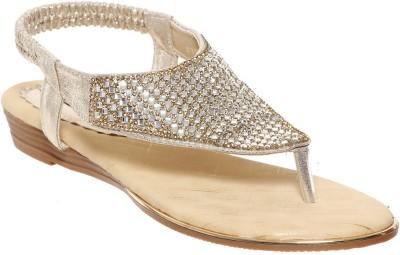 Flat n Heels Women Gold Flats