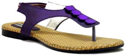Indirang Women Purple Flats