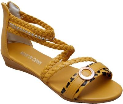 Gadget Yellow Formal Women Yellow Flats