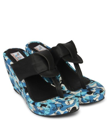 2B Collection Snowy Women Black Wedges