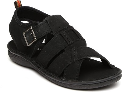 Roadster Men Black Sandals at flipkart