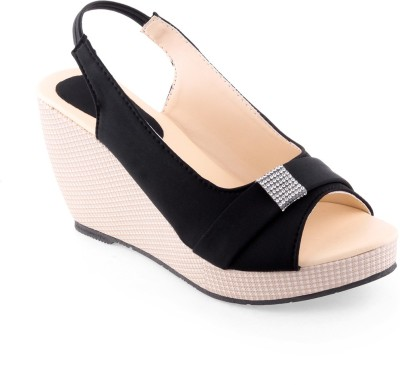 Shoe Lab Women Black Wedges