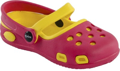 Spice Olive Baby Girls Red, Yellow Sandals