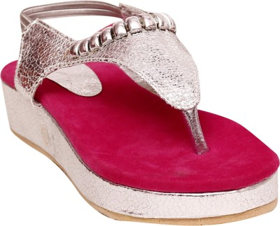 Unique Selection Women Pink Wedges