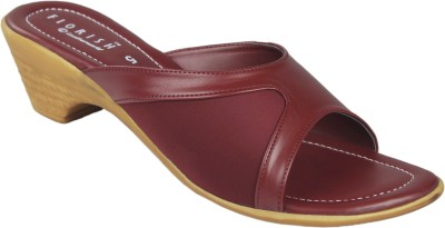 Leatherworld Women Maroon Heels