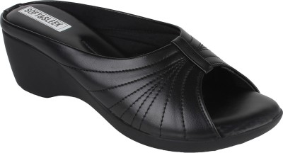 Soft & Sleek Women Black Wedges