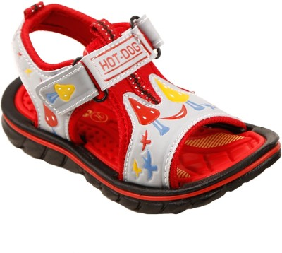 Hot Dog Baby Boys Red Sandals
