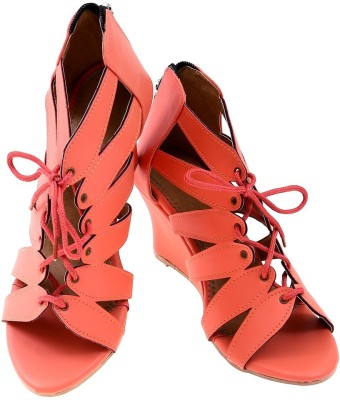 American Cult Women Pink Wedges
