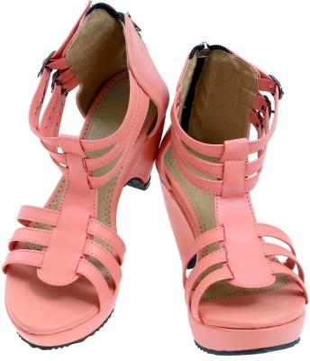 American Cult Women Pink Heels