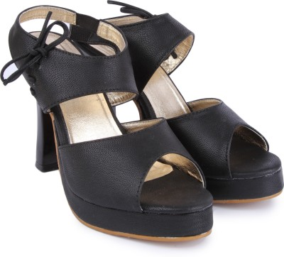 Urban Woods Women Black Heels