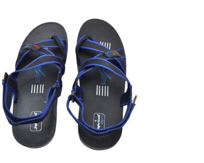Stylewalk Men Black, Blue Sandals
