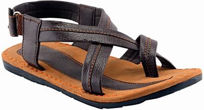 Fabme Men Brown Sandals
