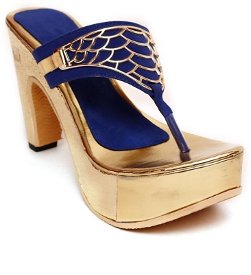 MK COLLECTIONS Women Blue Heels