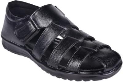 Footcholic Men Black Sandals