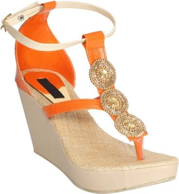 Fashionwalk Women Orange Wedges