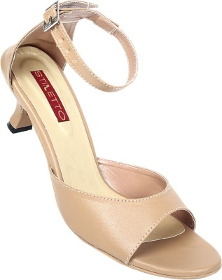 Stiletto Women Beige Heels