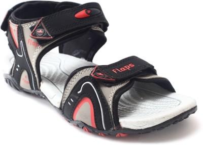 Flaps Men Grey, Black Sandals