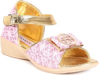 Stylistry Girls Pink Sandals