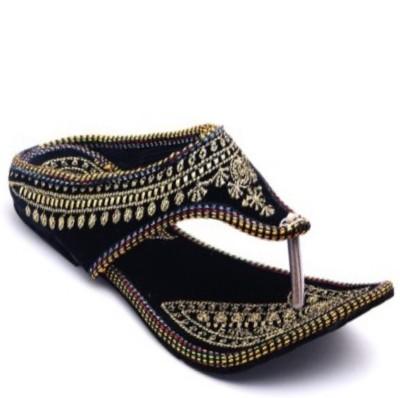 Nanak creation Women Black, Gold Flats