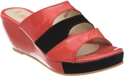 Diva Women Pink, Black Wedges