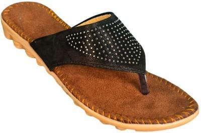 Jarwal Collection Women Black, Brown Flats