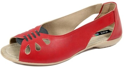 mee style Women Red Flats