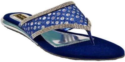 Glossy Women Blue Flats