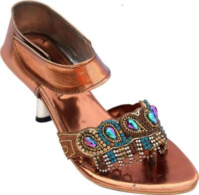 Baba Enterprises Women Maroon Heels