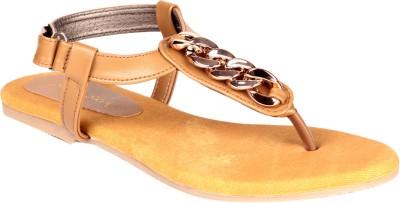 Soft & Sleek Matalic Girls Brown Flats