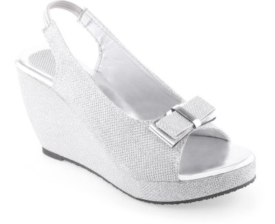 Shoe Lab Women Silver Wedges