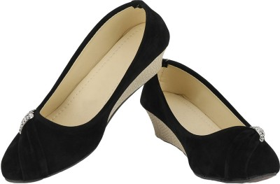 Zio Star Women Black Wedges