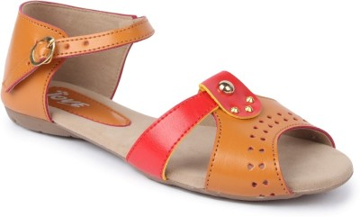 Jove Women Orange Flats