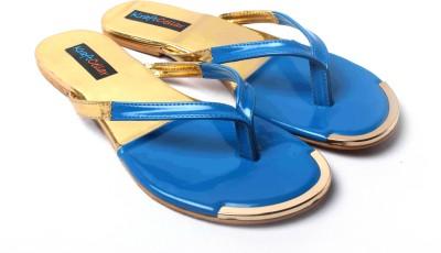 Kraft Cellar Blue Gold Duo Metal Insert Women Blue, Gold Flats