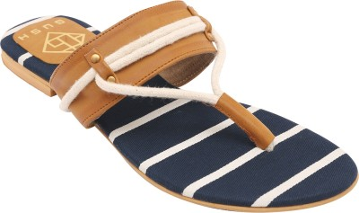 Gush Women Navy Flats