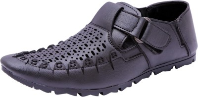 Sir Corbett Men Black Sandals