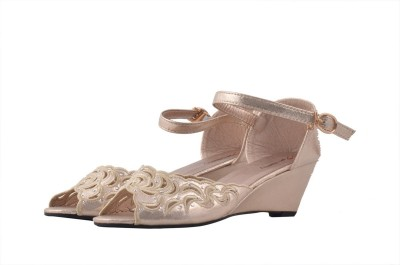Shuberry Women Gold Wedges