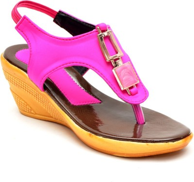 Lee Walk Women Pink Wedges