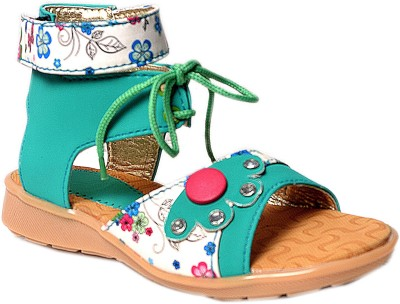 Crayon&collection Girls Green Sandals