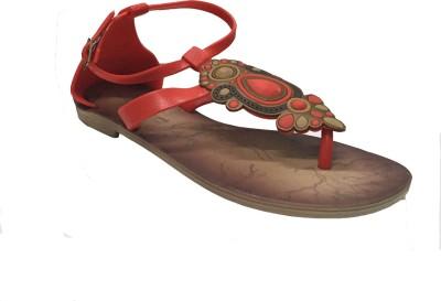 Oh Feet ! Women Red Flats