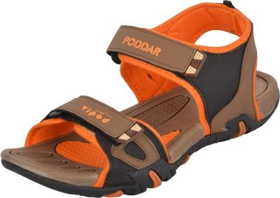 Poddar Men Orange Sandals