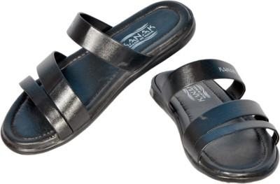 Etteei Men Black Sandals