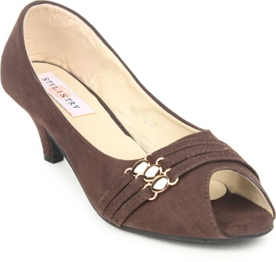 Stylistry Women Brown Heels