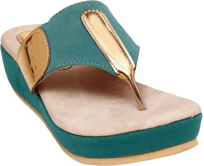 Unique Selection Women Green Wedges