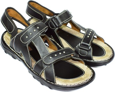 Maayas Men Black Sandals