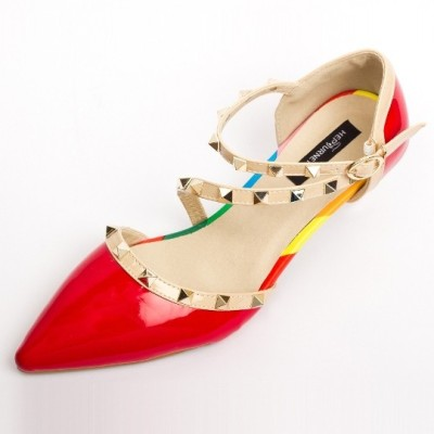 Hepburnette Women Red Heels