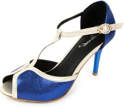 Starchi Women Blue, White Heels