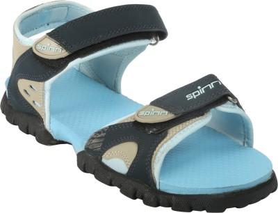 Spinn Women Blue Sports Sandals