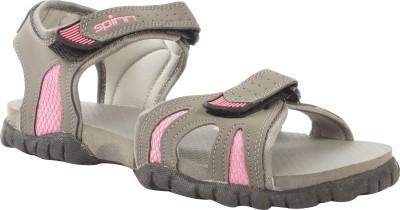 Spinn Women Grey, Pink Sports Sandals