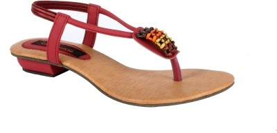 Trilokani Casual Women Maroon Heels